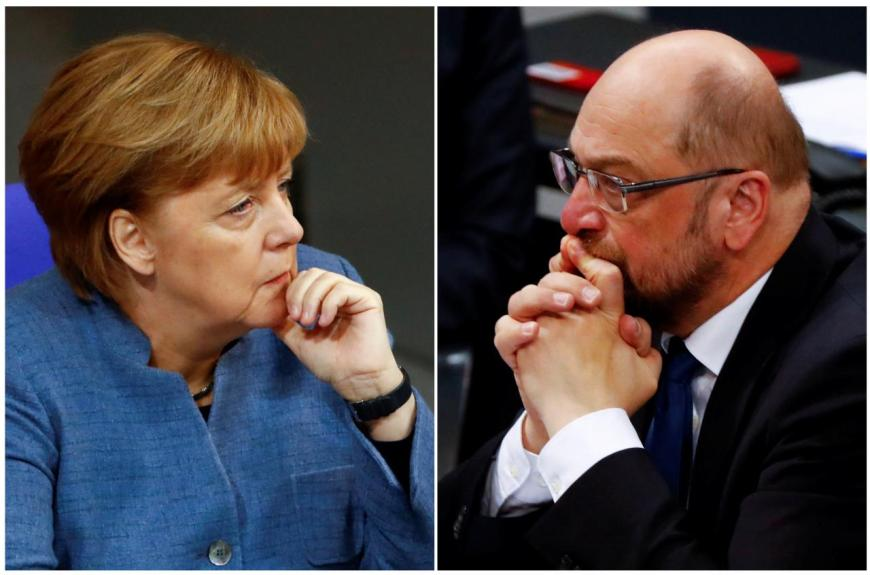 Merkel e Schulz Große Koalition